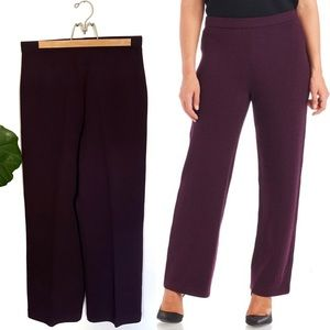 St. John Collection Eggplant Wool Santana Pants!